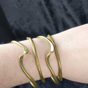 Vintage brass bangle braceleta